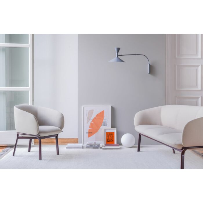 <strong>Grace armchair and sofa Fabric:</strong> Xtreme <strong>Color:</strong> Xr108 <strong>Base color: </strong> M013