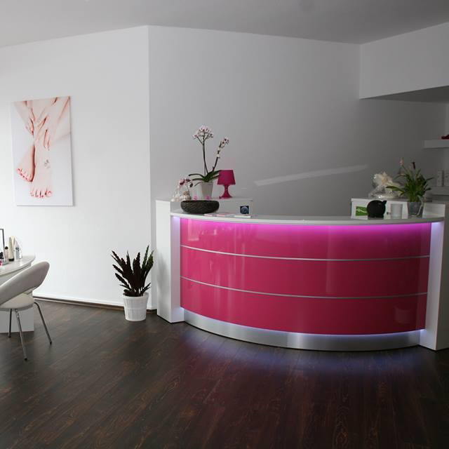 Reception Area In A Beauty Parlor